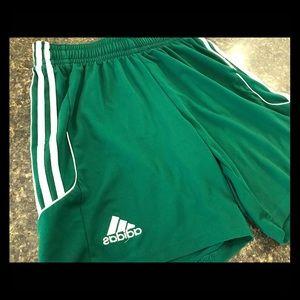 Adidas Mens Athletic Climalite Shorts Green Medium